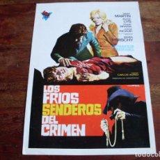 Cinéma: LOS FRIOS SENDEROS DEL CRIMEN - AGATA LYS, FRANK BRAÑA - DIR. CARLOS AURED - GUIA ORIGINAL GIRE 1973. Lote 142916742