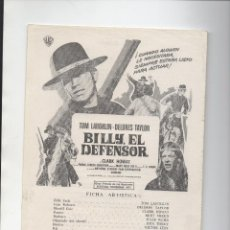 Cine: BILLY EL DEFENSOR. Lote 142964410