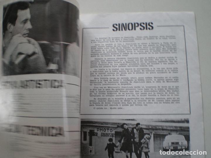 Cine: UN HOMBRE Y UNA MUJER - GUIA PUBLICITARIA CB FILMS 1966 // CLAUDE LELOUC ANOUK AIMEE - Foto 2 - 143378554