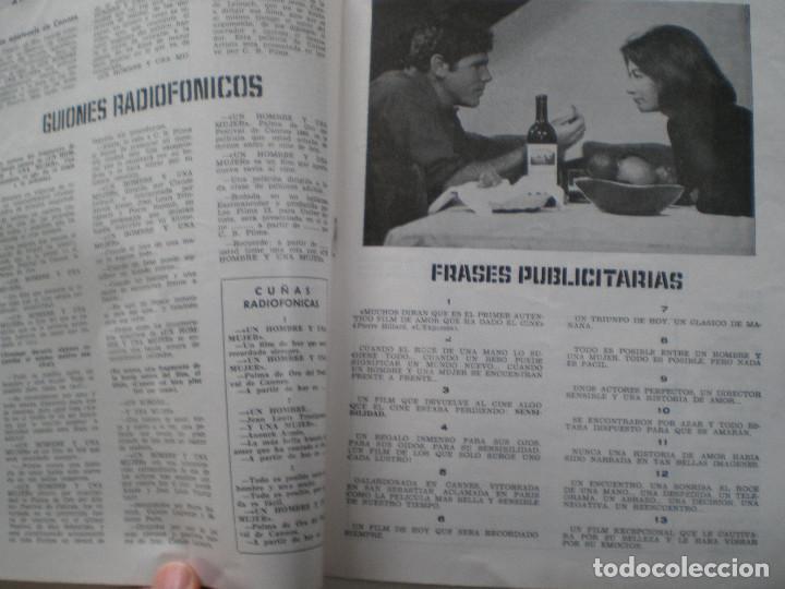 Cine: UN HOMBRE Y UNA MUJER - GUIA PUBLICITARIA CB FILMS 1966 // CLAUDE LELOUC ANOUK AIMEE - Foto 4 - 143378554