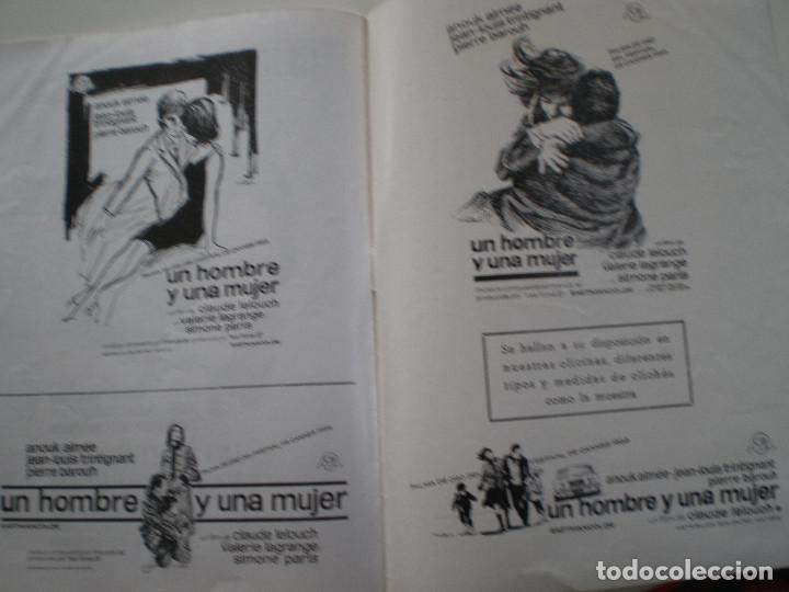 Cine: UN HOMBRE Y UNA MUJER - GUIA PUBLICITARIA CB FILMS 1966 // CLAUDE LELOUC ANOUK AIMEE - Foto 6 - 143378554