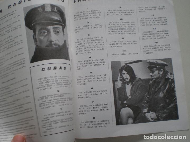 Cine: UN MILLON EN LA BASURA - GUIA PUBLICITARIA CB FILMS 1967 // JOSE MARIA FORQUE LUIS LOPEZ VAZQUEZ - Foto 5 - 143381866