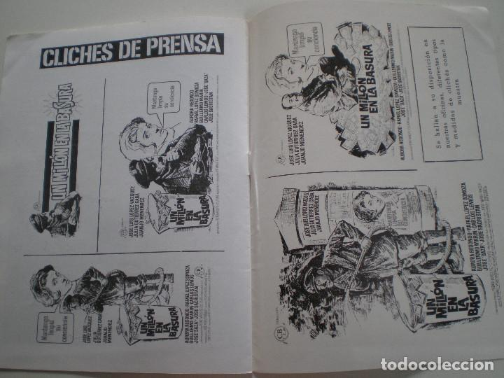Cine: UN MILLON EN LA BASURA - GUIA PUBLICITARIA CB FILMS 1967 // JOSE MARIA FORQUE LUIS LOPEZ VAZQUEZ - Foto 6 - 143381866