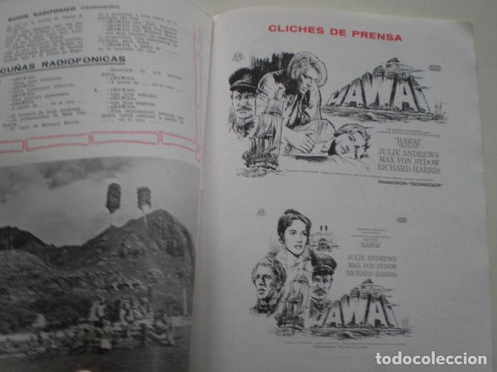 Cine: HAWAI - GUIA PUBLICITARIA CB FILMS 1966// JULIE ANDREWS RICHARD HARRIS MAX VON SYDOW George Roy Hill - Foto 9 - 143386830