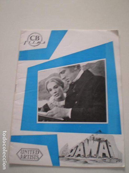 HAWAI - GUIA PUBLICITARIA CB FILMS 1966// JULIE ANDREWS RICHARD HARRIS MAX VON SYDOW GEORGE ROY HILL (Cine - Guías Publicitarias de Películas )