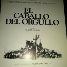 Cine: CLAUDE CHABROL JAQUES DUFILHO,EL CABALLO DEL ORGULLO,BÚHO FILMS . Lote 143673190