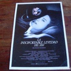Cine: LA INSOPORTABLE LEVEDAD DEL SER - DANIEL DAY-LEWIS, JULIETTE BINOCHE - GUIA ORIGINAL UIP 1987. Lote 143755818