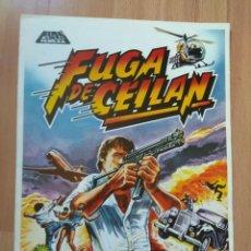 Cine: F--GUIA DE LA PELICULA- FUGA DE CEILAN . Lote 144378682