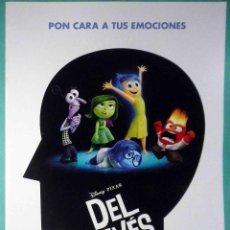 Cine: GUÍA ORIGINAL DE CINE: DEL REVÉS (ANIMACIÓN) DOBLE IMPRESA A DOS CARAS.. Lote 214942725