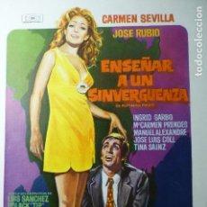 Cine: GUIA SENCILLA ENSEÑAR A UN SINVERGUENZA.-CARMEN SEVILLA. Lote 144917426