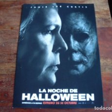 Cine: LA NOCHE DE HALLOWEEN - JAMIE LEE CURTIS, JUDY GREER, WILL PATTON - GUIA ORIGINAL UNIVERSAL 2018 . Lote 148227925