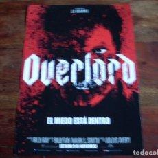 Cine: OVERLORD - JOVAN ADEPO, WYATT RUSSELL - DIR, JULIUS AVERY - GUIA ORIGINAL PARAMOUNT - J.J.ABRAMS. Lote 176861035