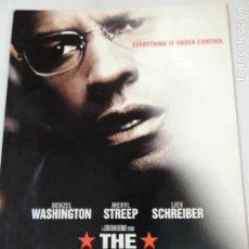 Cine: THE MANCHURIAN CANDIDATE - GUIA ORIGINAL USA - DENZEL WASHINGTON MERYL STREEP LIEV SCHREIBER. Lote 146366122