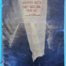 Cine: GUIA CATALOGO WARNER BROS , FILMS SAE , FIRST NATIONAL ,TEMPORADA 1933 1934 , VER FOTOS , ORIGINAL. Lote 146405650