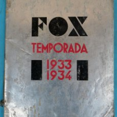 Cine: GUIA CATALOGO FOX , TEMPORADA 1933 1934 , VER FOTOS , ORIGINAL. Lote 146407010