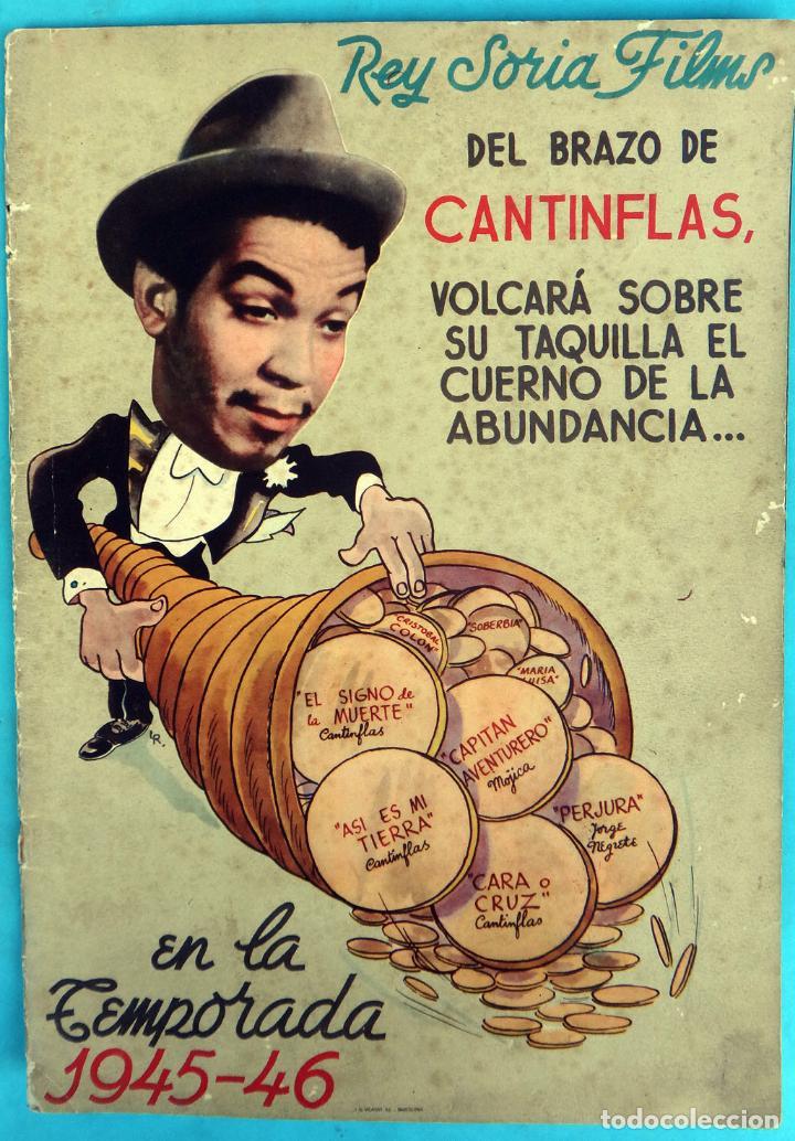 GUIA CATALOGO REY SORIA FILMS , TEMPORADA 1945 1946 , VER FOTOS , ORIGINAL (Cine - Guías Publicitarias de Películas )