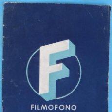 Cine: GUIA CATALOGO SELECCIONES FILMOFONO , TEMPORADA 1949 1950 , VER FOTOS , ORIGINAL. Lote 146411970