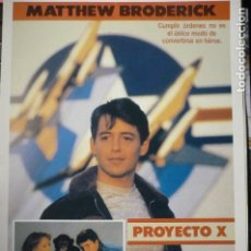 Cine: GUIA PROYECTO X MATTHEW BRODERICK. Lote 146703586