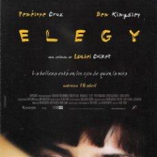 Cine: GUÍA ORIGINAL DOBLE (ELEGY)-ENERO 2019-. Lote 147152494