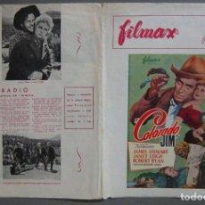 Cine: G8799D COLORADO JIM JAMES STEWART JANET LEIGH ANTHONY MANN GUIA DOBLE FILMAX ORIGINAL ESTRENO. Lote 147374366
