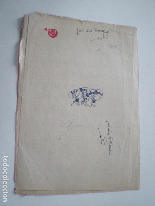 Cine: LOS TRES CABALLEROS DE WALT DISNEY - ANTIGUA PARTITURA MUSICA DEL SUR BARCELONA 1944 - Foto 3 - 147709434