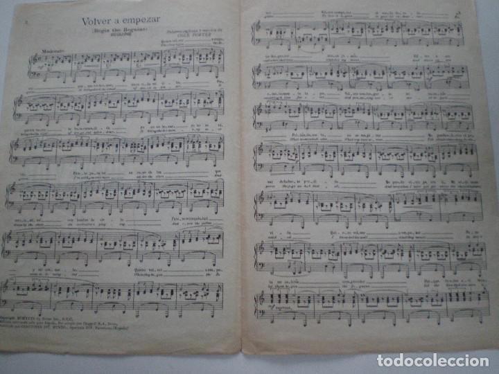 Cine: NOCHE Y DIA DE WARNER BROS. - ANTIGUA PARTITURA CANCIONES DEL MUNDO ESPAÑA 1932 // GARY GRANT - Foto 2 - 147709762