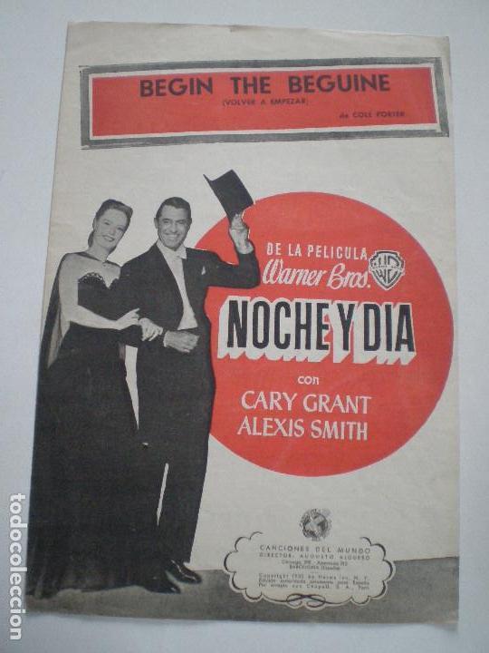 NOCHE Y DIA DE WARNER BROS. - ANTIGUA PARTITURA CANCIONES DEL MUNDO ESPAÑA 1932 // GARY GRANT (Cine - Guías Publicitarias de Películas )