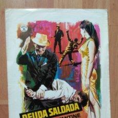 Cine: GUIA DE LA PELICULA - - DEUDA SALDADA. Lote 147896838