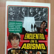 Cine: GUIA DE LA PELICULA - - ENCUENTRO EN EL ABISMO. Lote 147898094