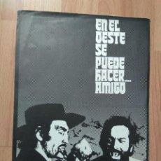 Cine: GUIA DE LA PELICULA - - EN EL OESTE SE PUEDE HACER...AMIGO,. Lote 147898406