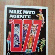 Cine: GUIA DE LA PELICULA - - MARC MATO AGENTE S. 077 . Lote 147900242