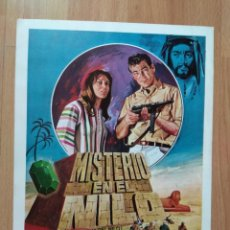 Cine: GUIA DE LA PELICULA - - MISTERIO EN EL NILO,. Lote 147900670