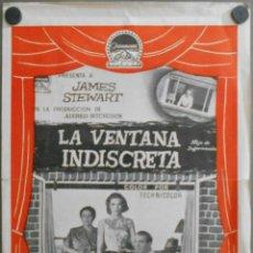 Cine: G8829D LA VENTANA INDISCRETA ALFRED HITCHCOCK JAMES STEWART GUIA DOBLE PARAMOUNT ORIGINAL ESTRENO. Lote 147910038