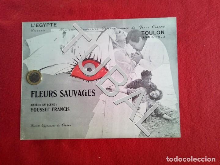 Cine: TUBAL 1972 CUADRÍPTICO FLEURS SAUVAGES YOUSSEF FRANCIS 8 PAGINAS - Foto 2 - 148482410