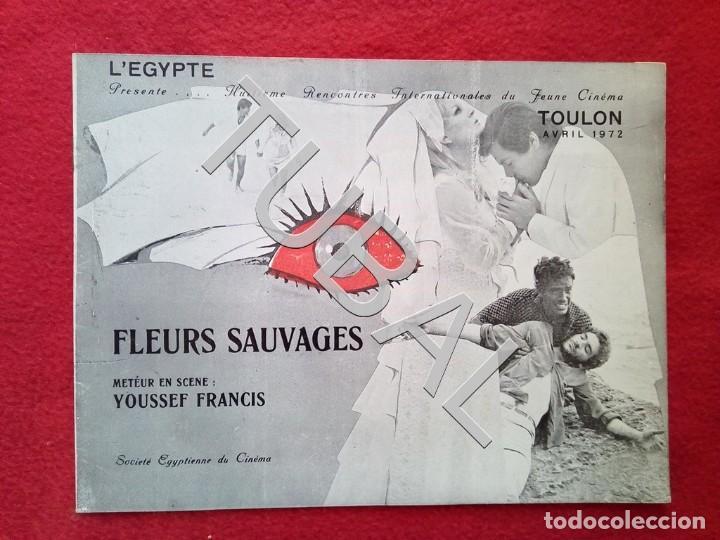 Cine: TUBAL 1972 CUADRÍPTICO FLEURS SAUVAGES YOUSSEF FRANCIS 8 PAGINAS - Foto 4 - 148482410