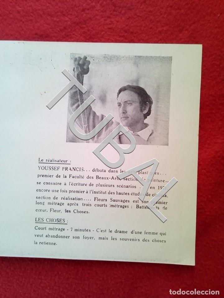 Cine: TUBAL 1972 CUADRÍPTICO FLEURS SAUVAGES YOUSSEF FRANCIS 8 PAGINAS - Foto 8 - 148482410