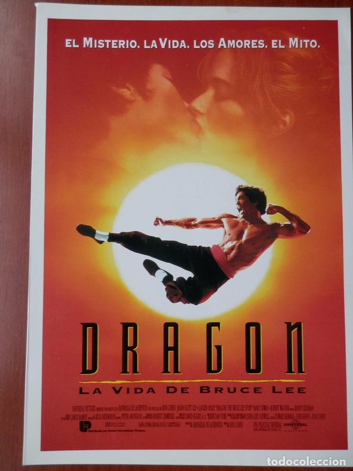 GUIA CINE 2 HOJAS: DRAGÓN. LA VIDA DE BRUCE LEE. (Cine - Guías Publicitarias de Películas )