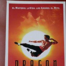 Cine: GUIA CINE 2 HOJAS: DRAGÓN. LA VIDA DE BRUCE LEE.. Lote 148961820