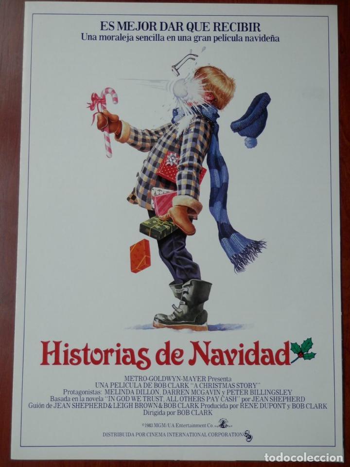 GUIA CINE 2 HOJAS: HISTORIAS DE NAVIDAD MELINDA DILLON PETER BILLINGSLEY (Cine - Guías Publicitarias de Películas )