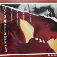 Cine: GUIA CINE 2 HOJAS: UNA PROPOSICION INDECENTE DEMI MOORE ROBERT REDFORD. Lote 148962202