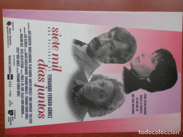 GUIA CINE 2 HOJAS: SIETE MIL DIAS JUNTOS JOSE SACRISTAN PILAR BARDEM (Cine - Guías Publicitarias de Películas )