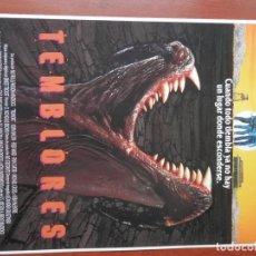 Cine: GUIA CINE 2 HOJAS: TEMBLORES KEVIN BACON FRED WARD. Lote 148962310