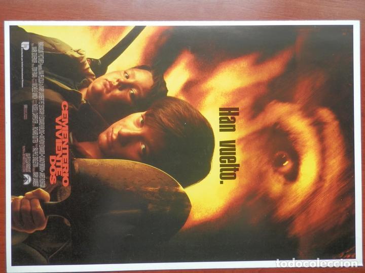 GUIA CINE 2 HOJAS: CEMENTERIO VIVIENTE DOS EDWARD FURLONG TERROR (Cine - Guías Publicitarias de Películas )