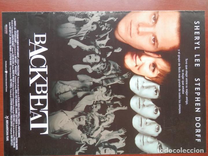 GUIA CINE 2 HOJAS: BACKBEAT - THE BEATLES (Cine - Guías Publicitarias de Películas )