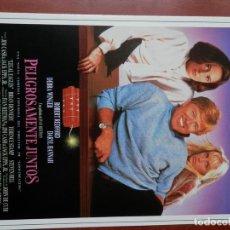 Cine: GUIA CINE 2 HOJAS: PELIGROSAMENTE JUNTOS ROBERT REDFORD. Lote 148962562
