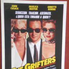Cine: GUÍA CINE GRAN TAMAÑO: THE GRIFTERS. Lote 149337450