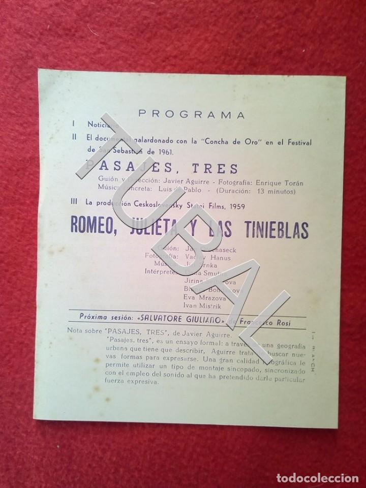 Cine: TUBAL 1963 ROMEO JULIETA Y LAS TINIEBLAS PROGRAMA DIPTICO CINE VICTORIA BARCELONA B01 - Foto 3 - 149718826