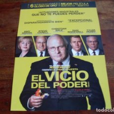 Cine: EL VICIO DEL PODER - CHRISTIAN BALE, AMY ADAMS, STEVE CARELL, SAM ROCKWELL - GUIA ORIGINAL EONE 2018. Lote 176861140