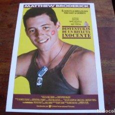 Cine: DESVENTURAS DE UN RECLUTA INOCENTE - MATTHEW BRODERICK, CHRISTOPHER WALKEN - GUIA ORIGINALU.I.P 1987. Lote 150491914