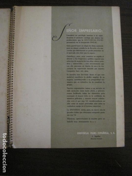 Cine: CATALOGO DE CINE-UNIVERSAL FILMS ESPAÑOLA S.A.-TEMPORADA 1946-VER FOTOS(V-15.956) - Foto 5 - 152207810